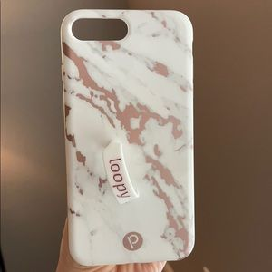 Loopy case - iPhone 7 Plus - marbled rose gold